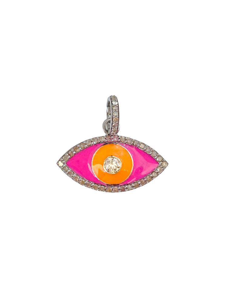 Diamond Eye And Enamel Pendant Item # PG3628-C