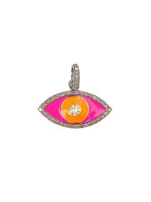 Diamond Eye and Enamel Pendant