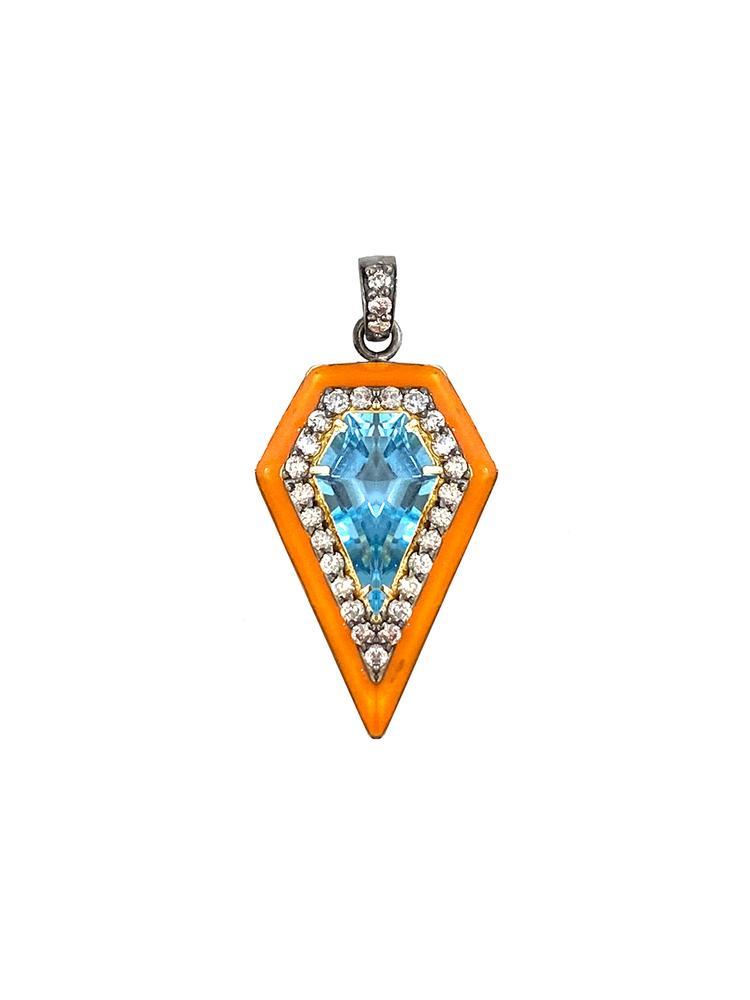 Diamond And Enamel Pendant Item # PG3075-C