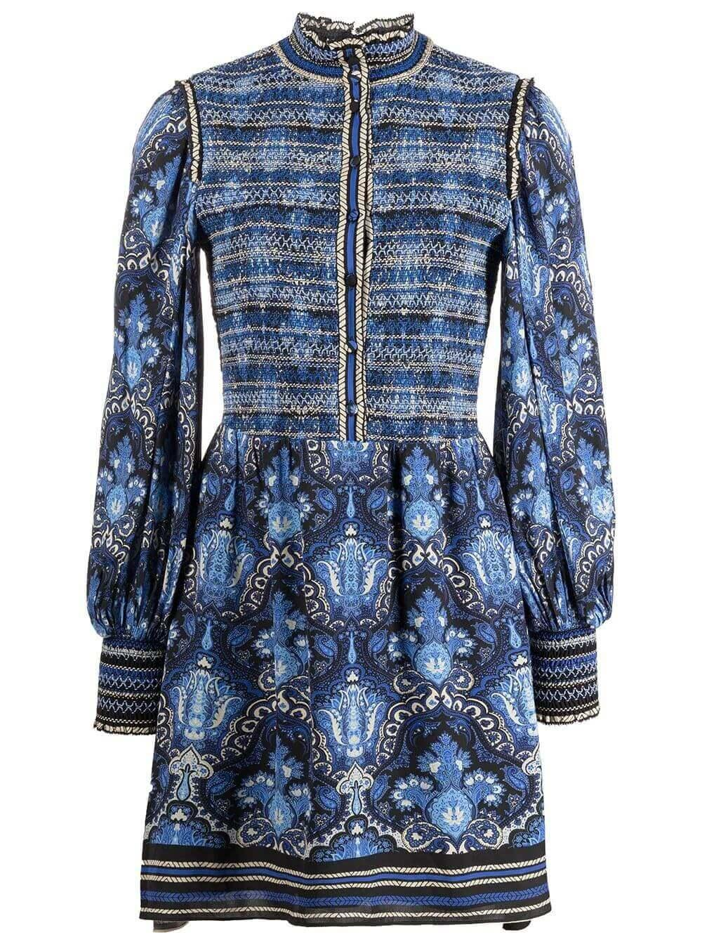 Elvira Smocked Mini Dress Item # CC109P01502