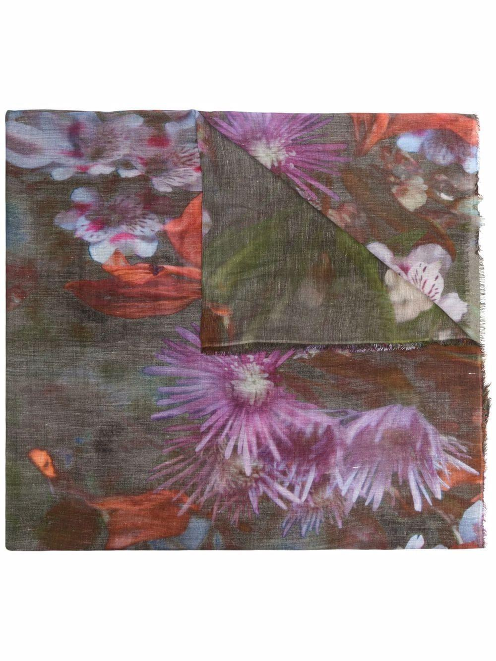 Flores Floral Printed Scarf Item # I222134