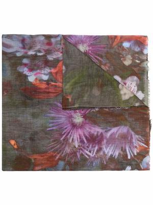 Flores Floral Printed Scarf