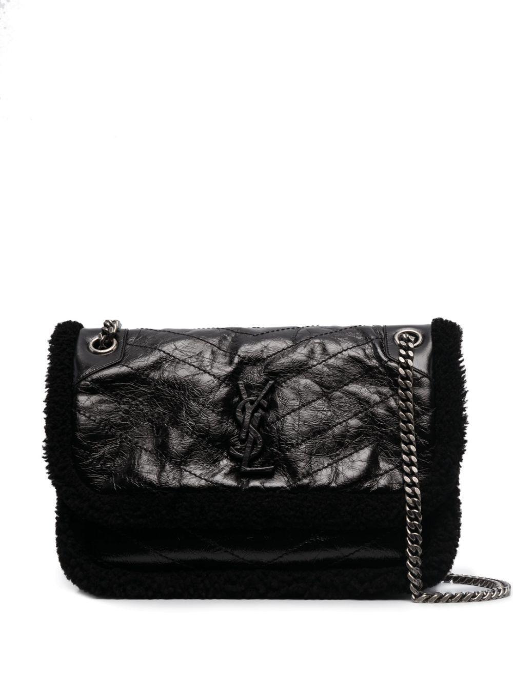 Mini Niki Shearling Trim Shoulder Bag Item # 6331870EN9D
