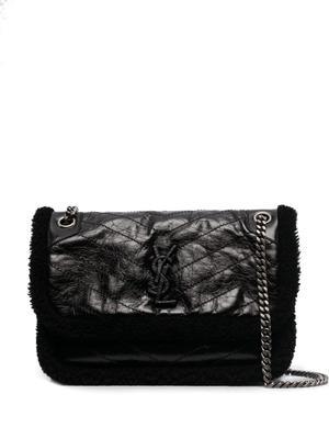 Mini Niki Shearling Trim Shoulder Bag