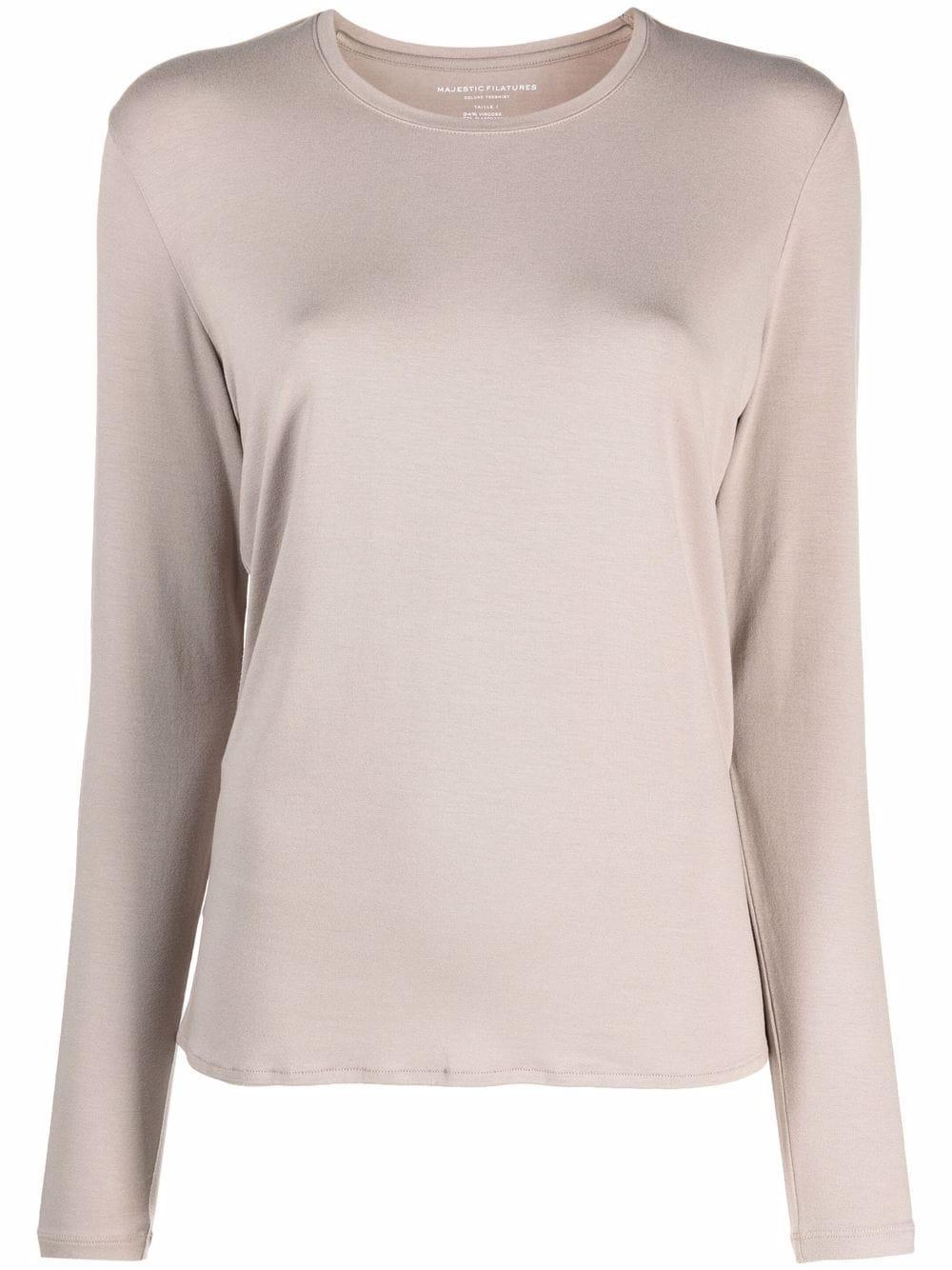 Soft Touch Crew Neck With Side Slits Item # M001FTS509