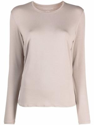 Soft Touch Crew Neck With Side Slits
