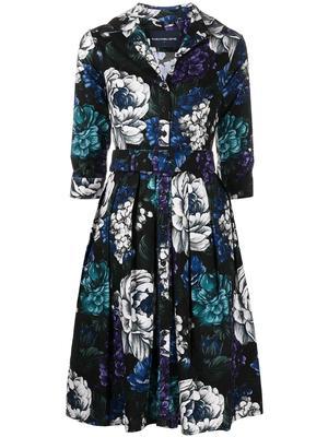 Belted Stretch Cotton Shirt Dress