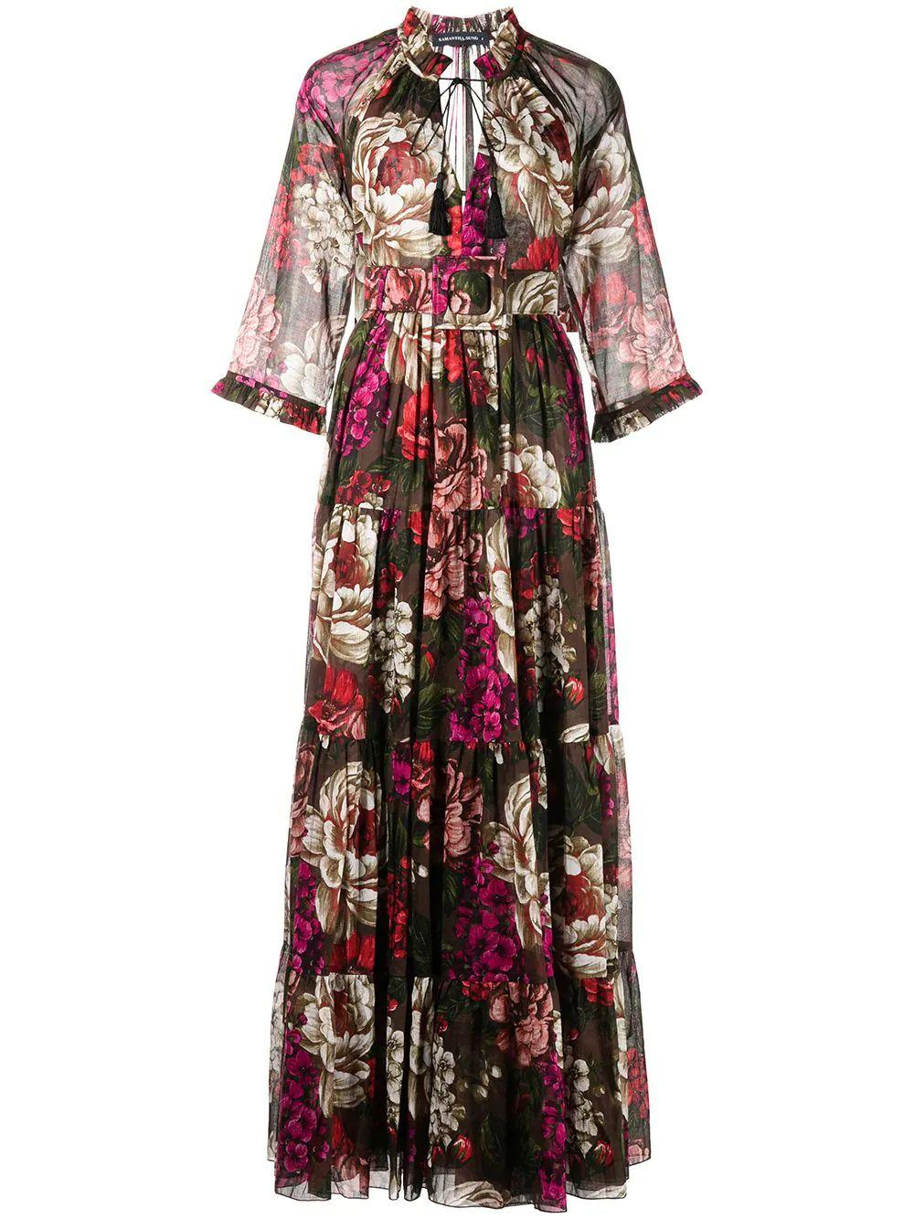 Eden Floral Maxi Dress Item # EDEN-F21