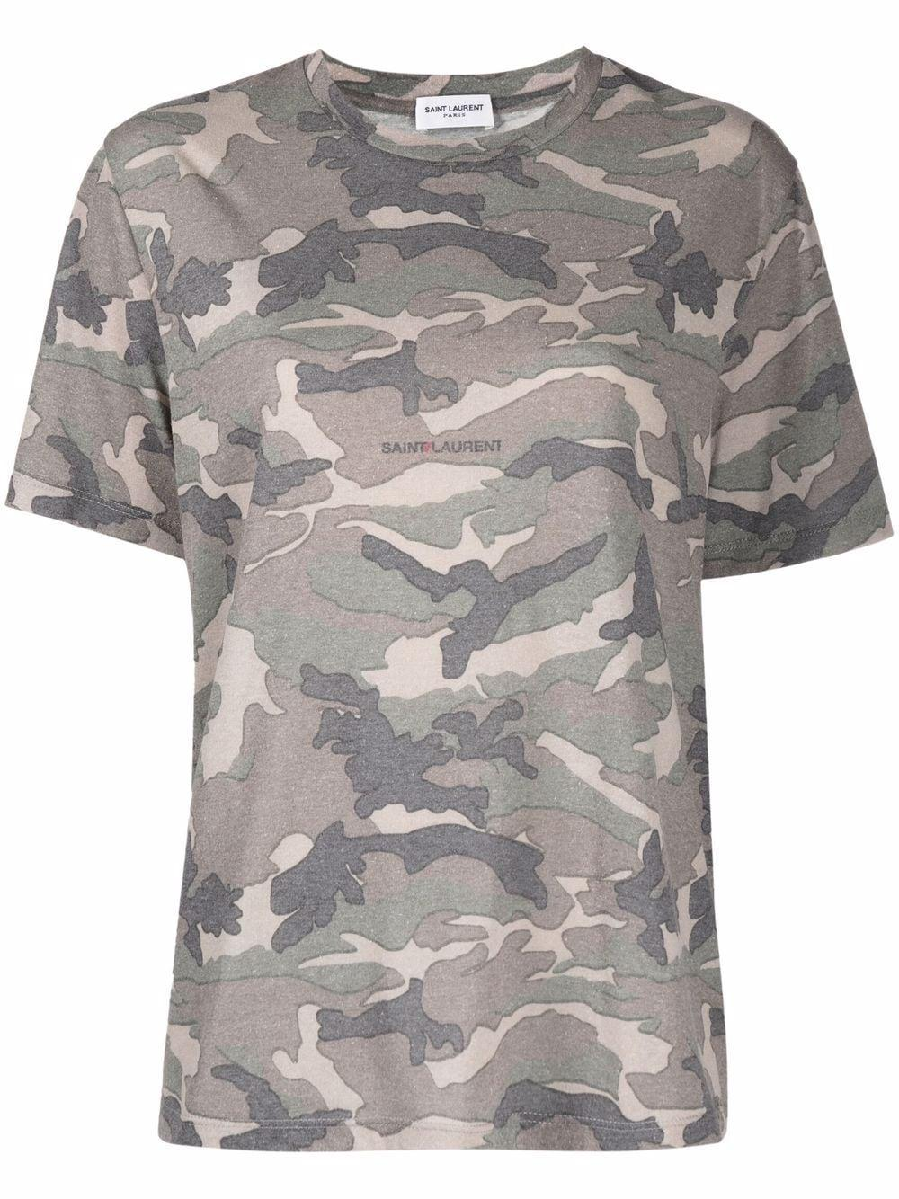 Camo Print T- Shirt Item # 665224Y36IT