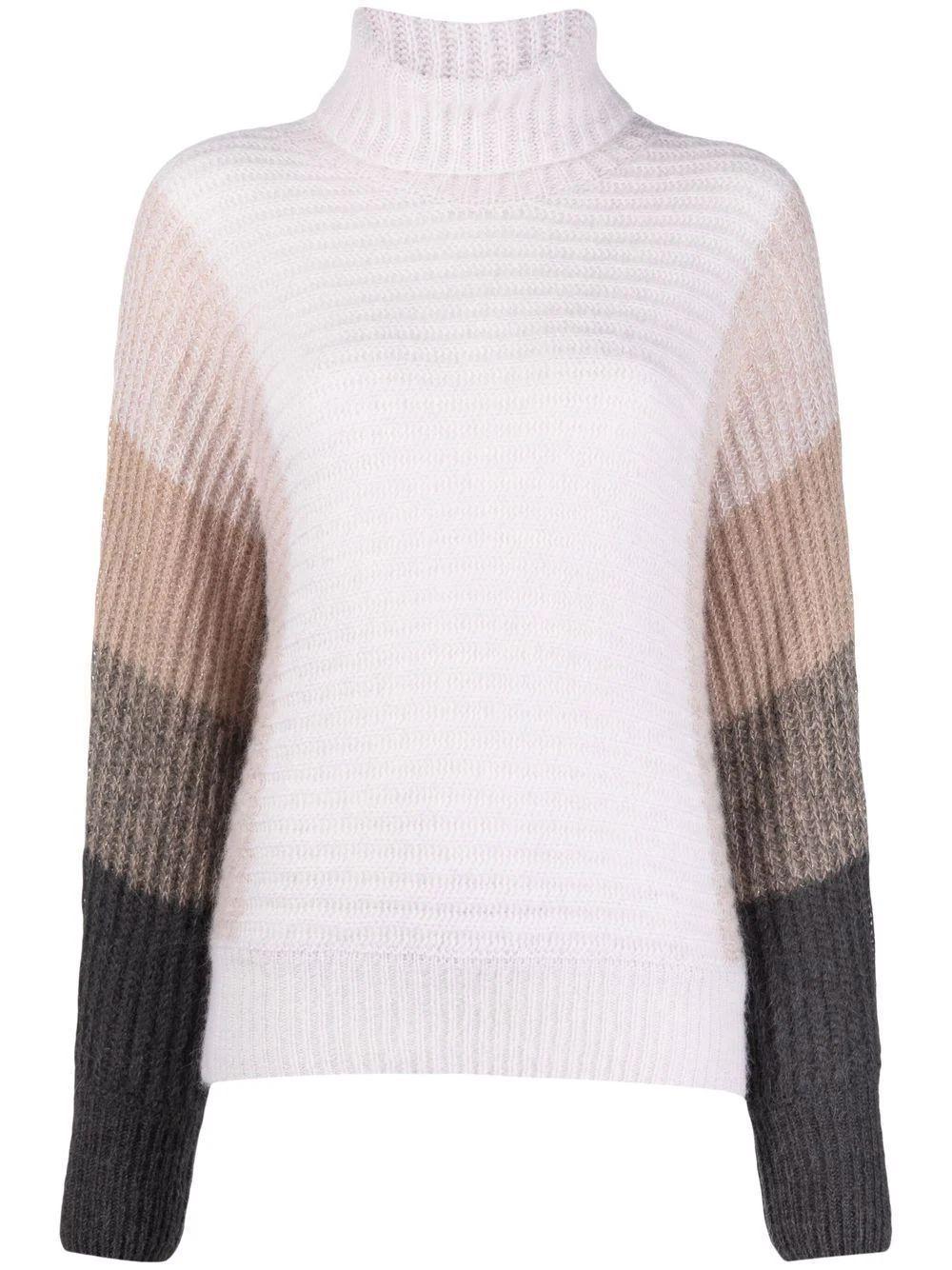 Color Block Turtleneck Sweater Item # S99093F05