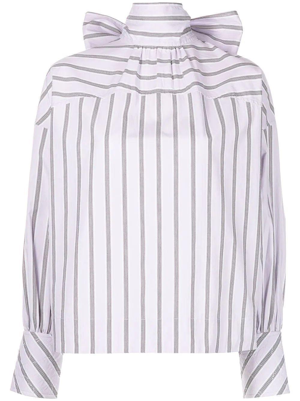 Striped Cotton Blouse Item # F6221