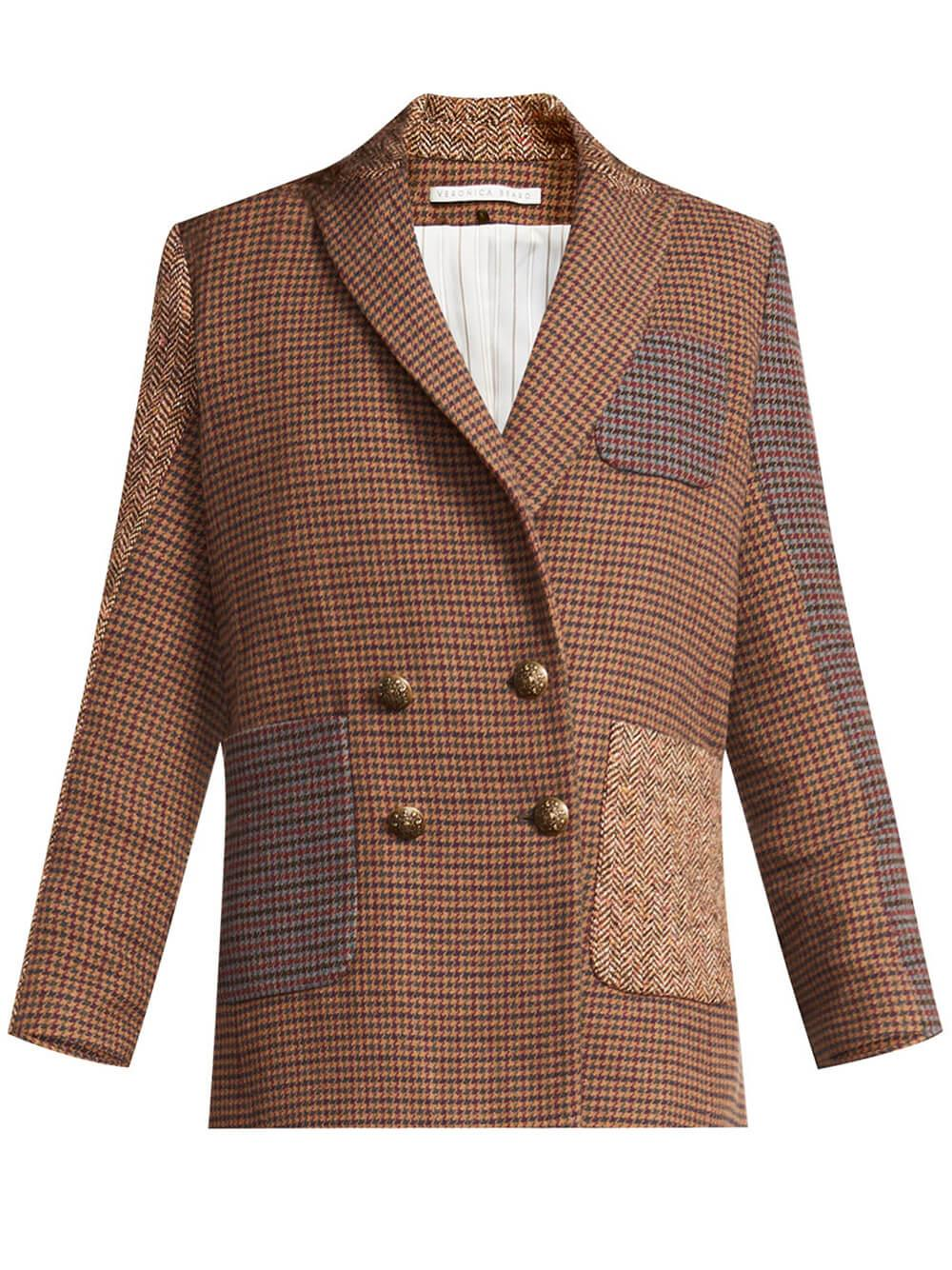 Faustine Houndstooth Dickey Jacket Item # 2108HT1210030