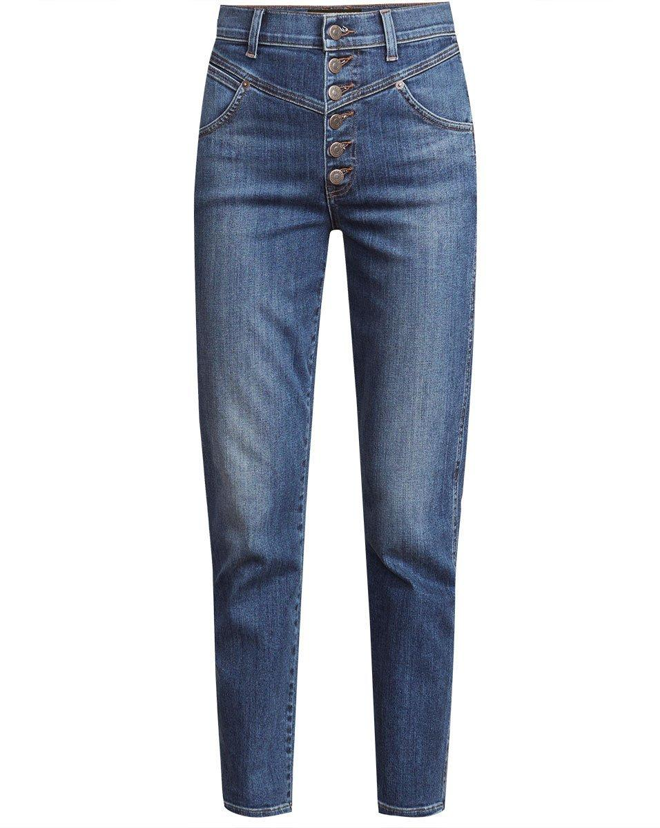 Ryleigh High Rise Straight Leg Jean With Front Yoke Item # J21098000642LA