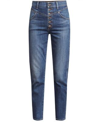 Ryleigh High Rise Straight Leg Jean With Front Yoke