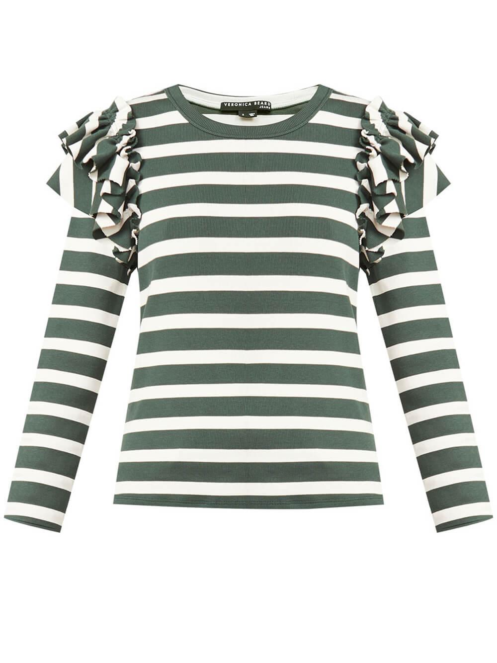 Segrist Ruffle Striped Top Item # J2108JY0210544