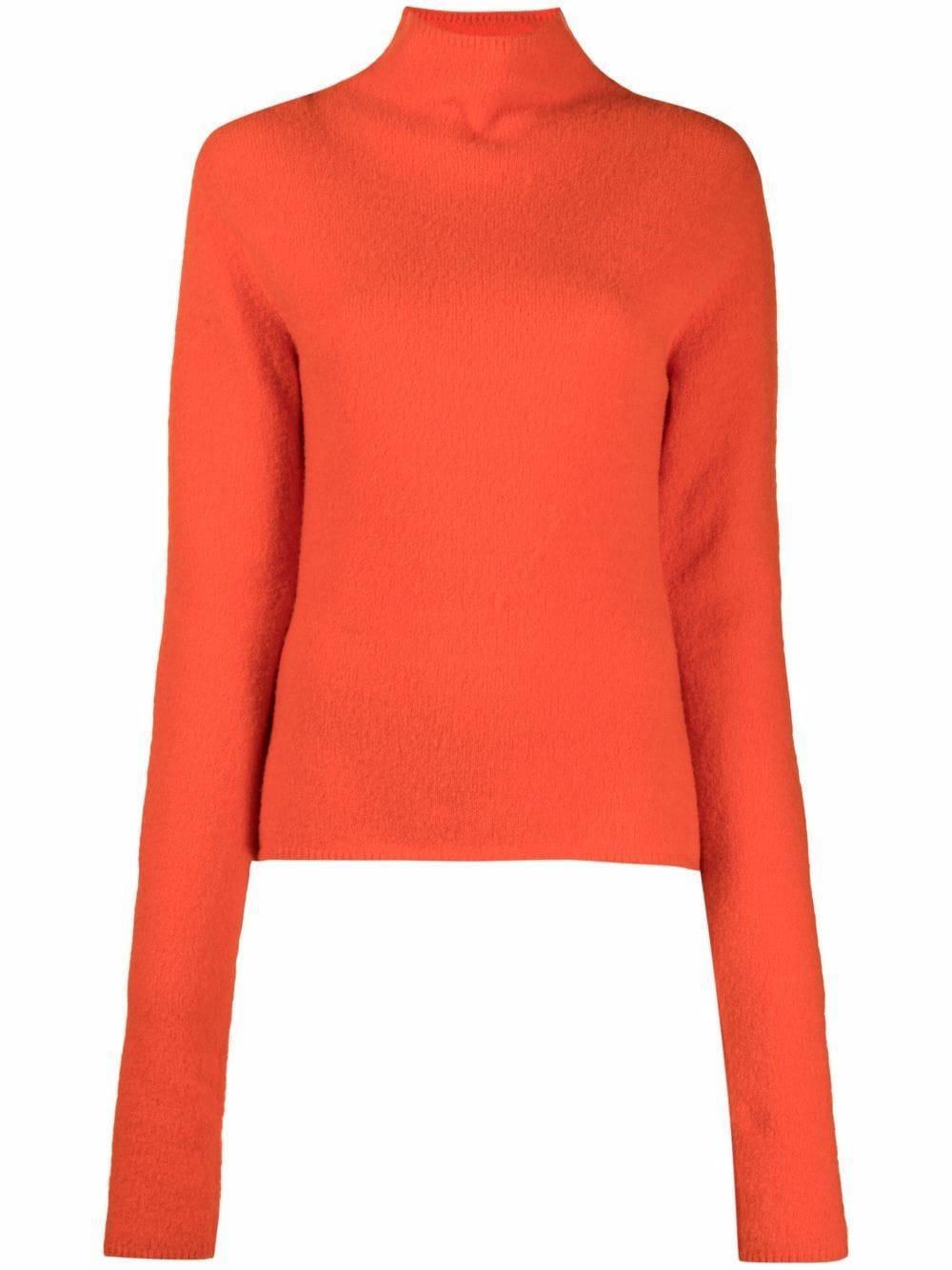 Liana Compact Bouclé Turtleneck Sweater Item # NW21FWTP00917