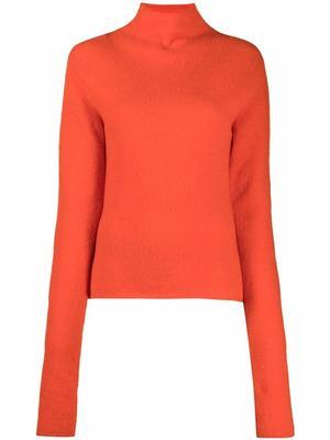 Liana Compact Bouclé Turtleneck Sweater
