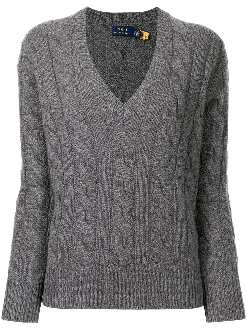 V- Neck Cable Knit Sweater Item # 211811192004
