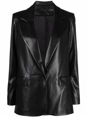 Denny Vegan Leather Blazer