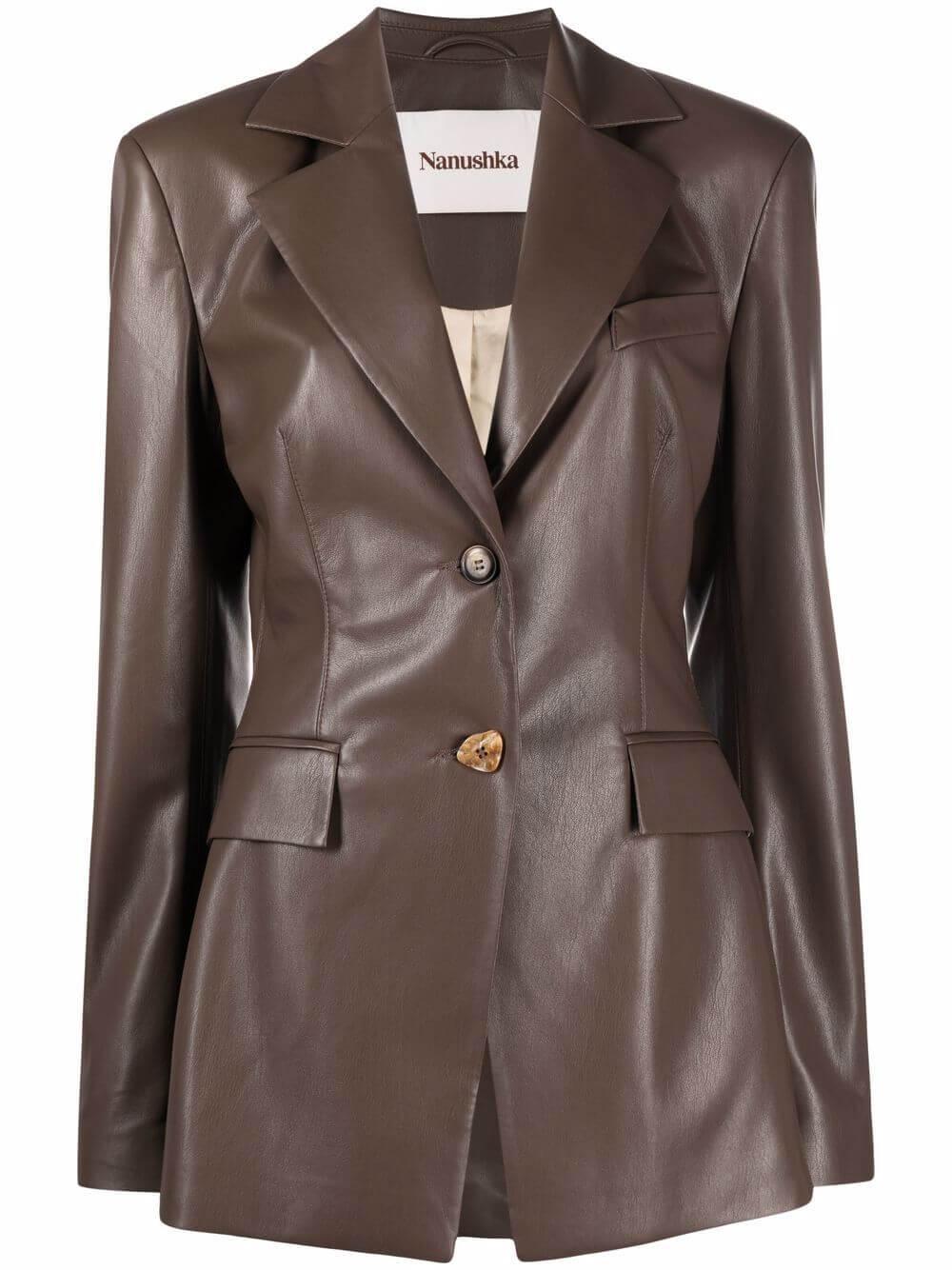 Hathi Vegan Leather Jacket Item # NW21FWJK00176