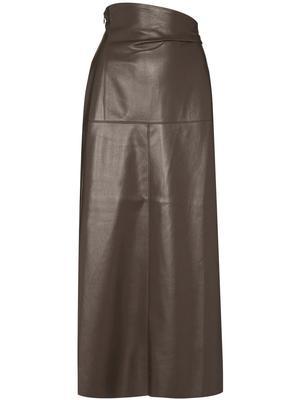 Melody Vegan Leather Aline Midi Skirt