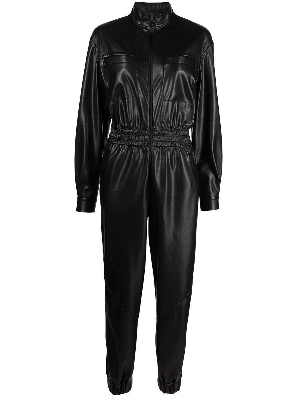 Levi Faux Leather Jumpsuit Item # CC109J16801