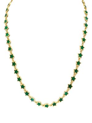Gold and Enamel Star Necklace