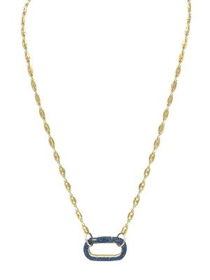 Sapphire Gold Chain Necklace