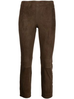 Stretch Suede Cropped Pant