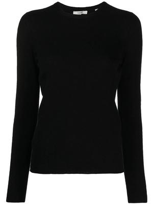 Fine Knit Cashmere Crew Neck Sweater