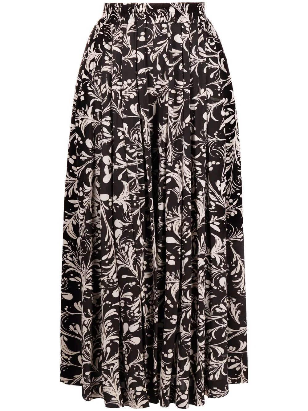 Clotilde Printed Midi Skirt Item # 21APA1964-21A022E