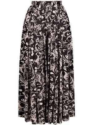 Clotilde Printed Midi Skirt