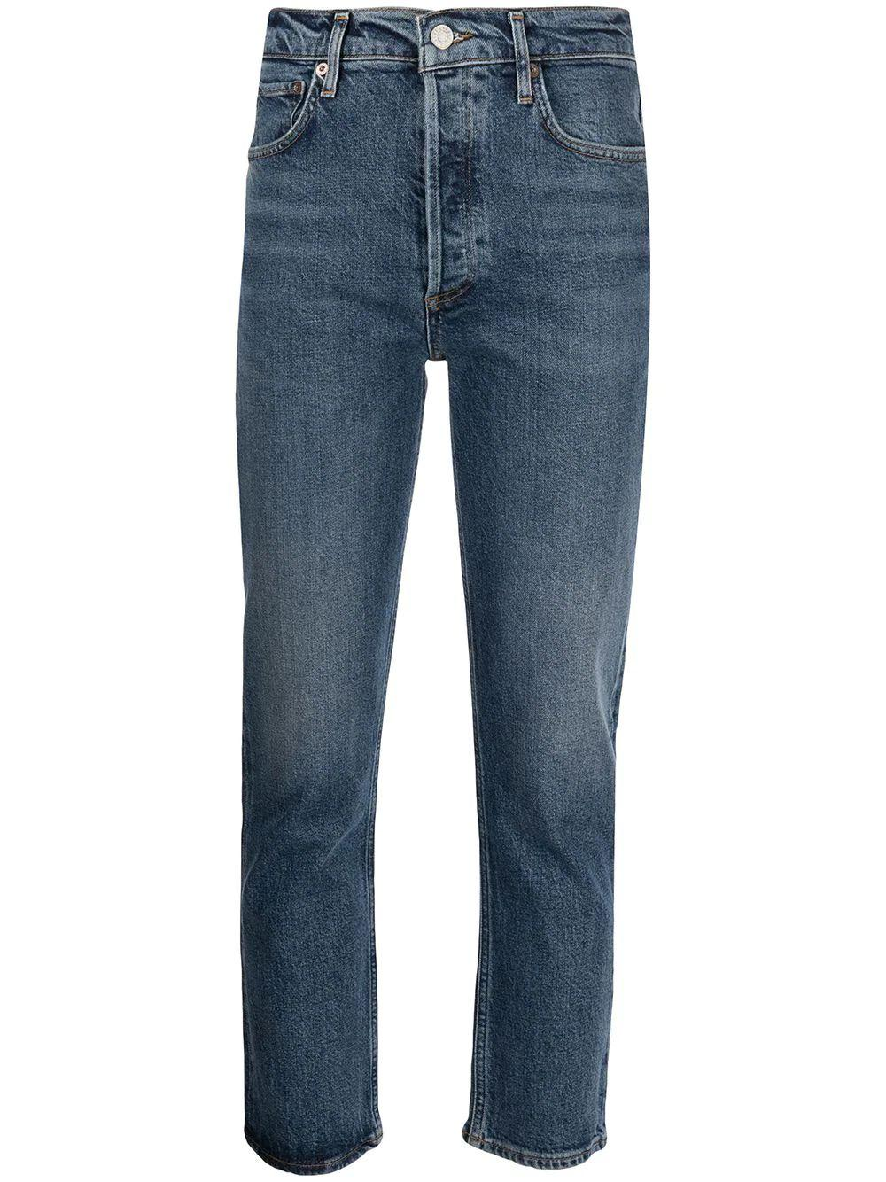 Riley Cropped Straight Leg Jean Item # A056D-1255