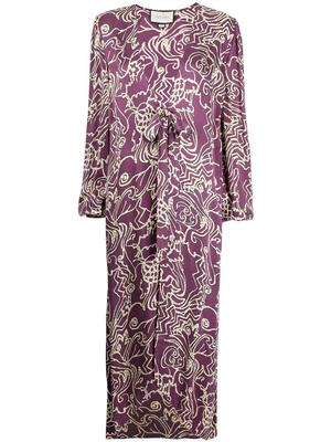 Setti Printed Full Length Robe