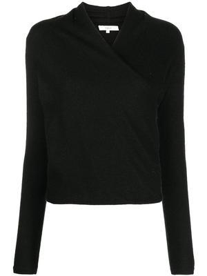 Draped Neck Pullover
