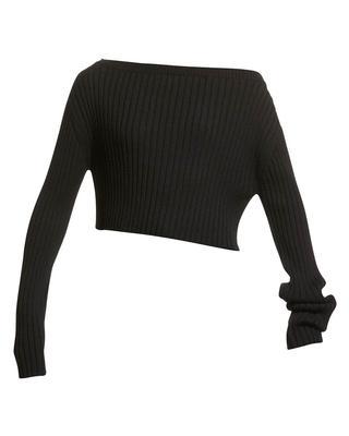 Jonah Off Shoulder Rib Cropped Sweater