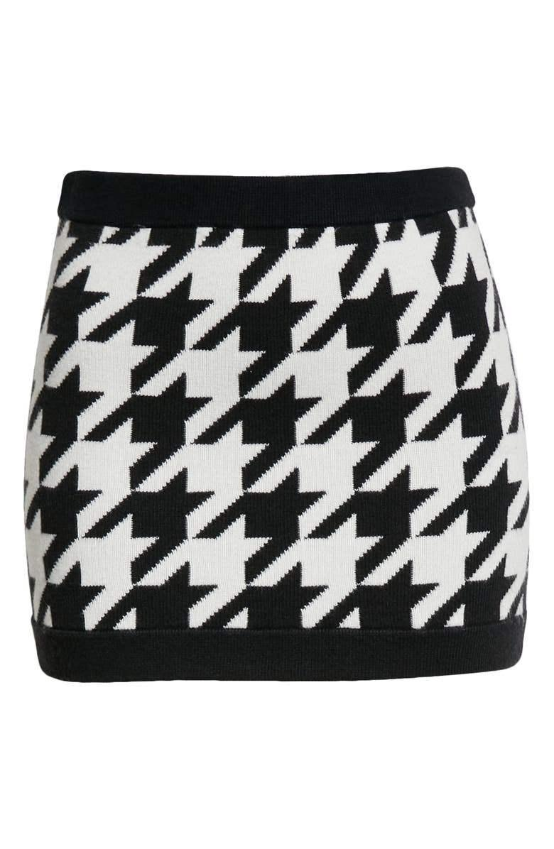 Ingrid Houndstooth Mini Skirt Item # CC109S34718