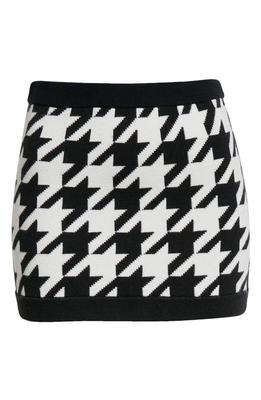 Ingrid Houndstooth Mini Skirt