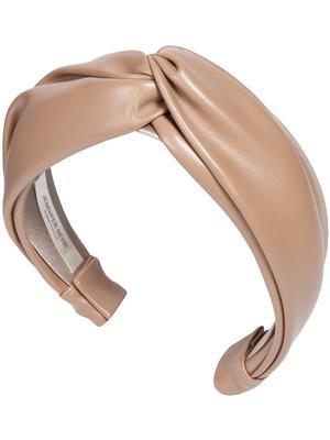 Vegan Leather Twist Headband