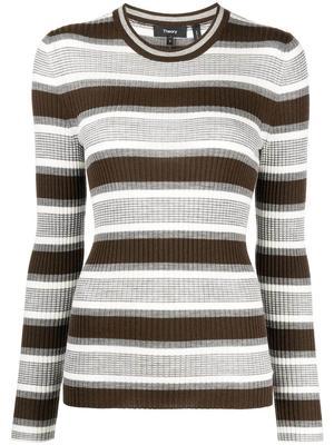 Rib Knit Striped Top