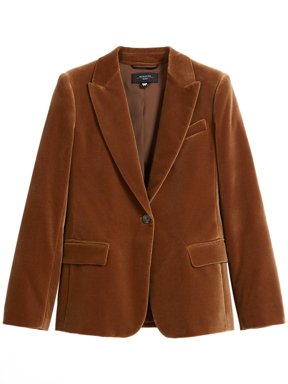 Falena One Button Velvet Blazer Item # 5046011306