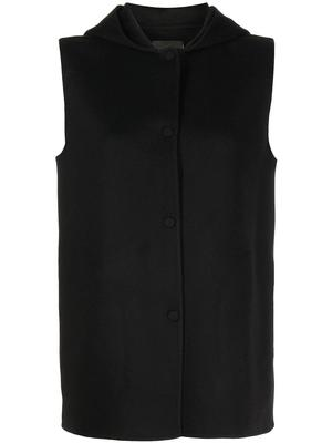 Button Front Hooded Vest