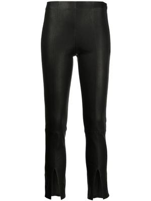 Front Slit Leather Pant