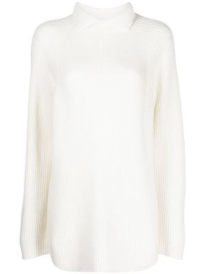 Rib Knit Collared Sweater