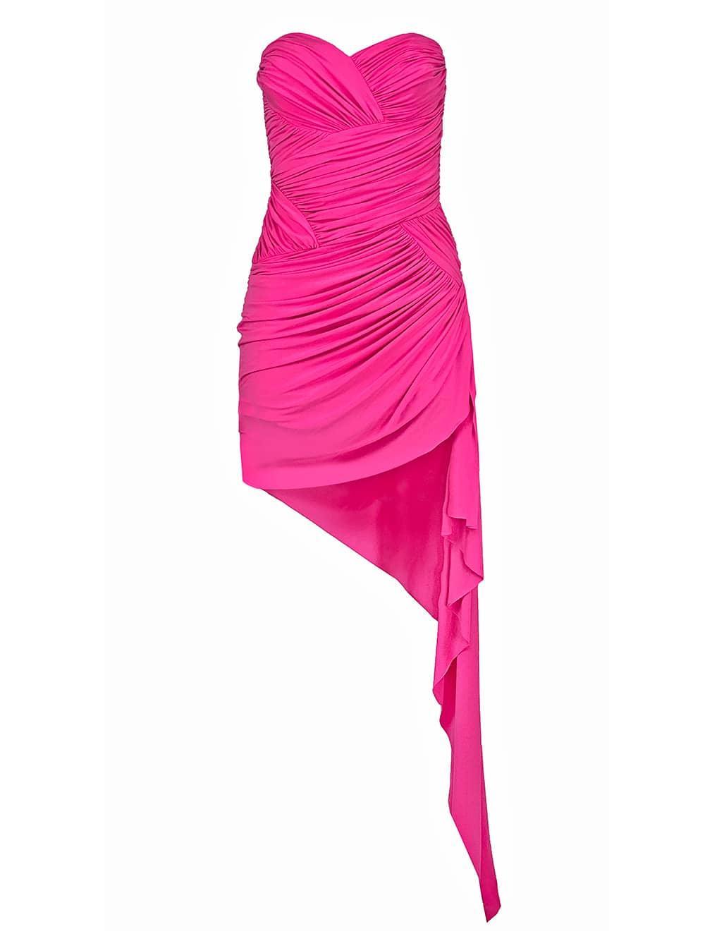 Asymmetrical Ruched Dress Item # 6991