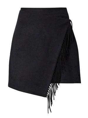 Saylor Wool Fringe Skirt