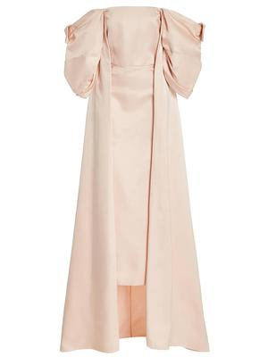 Loretta Cape Bustier Midi Dress