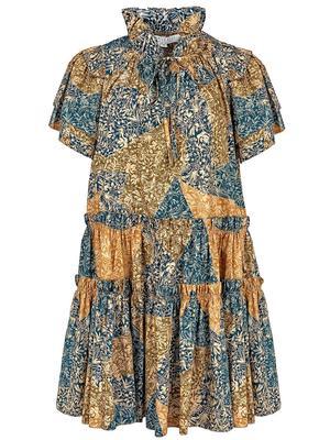 Merritt Patchwork Printed Dress