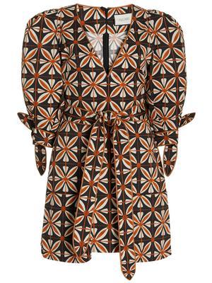 Junia Printed Wrap Mini Dress