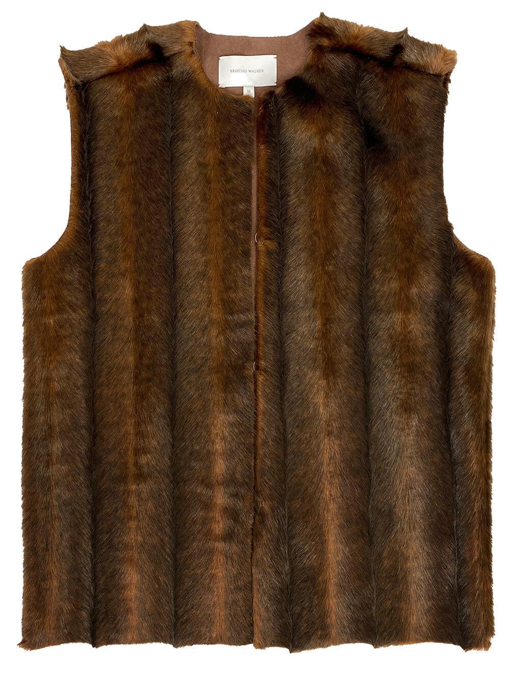 Penn Faux Fur Vest Item # TUF3646